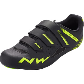 Northwave Core Sko Herrer, black/yellow fluo